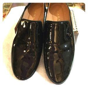 Zara Black Glossy Patent Leather